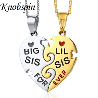 2017 New Arrival Heart Jigsaw Puzzle Pendant Necklace Women Silver Gold Colors Chain Stainless Steel Jewelry