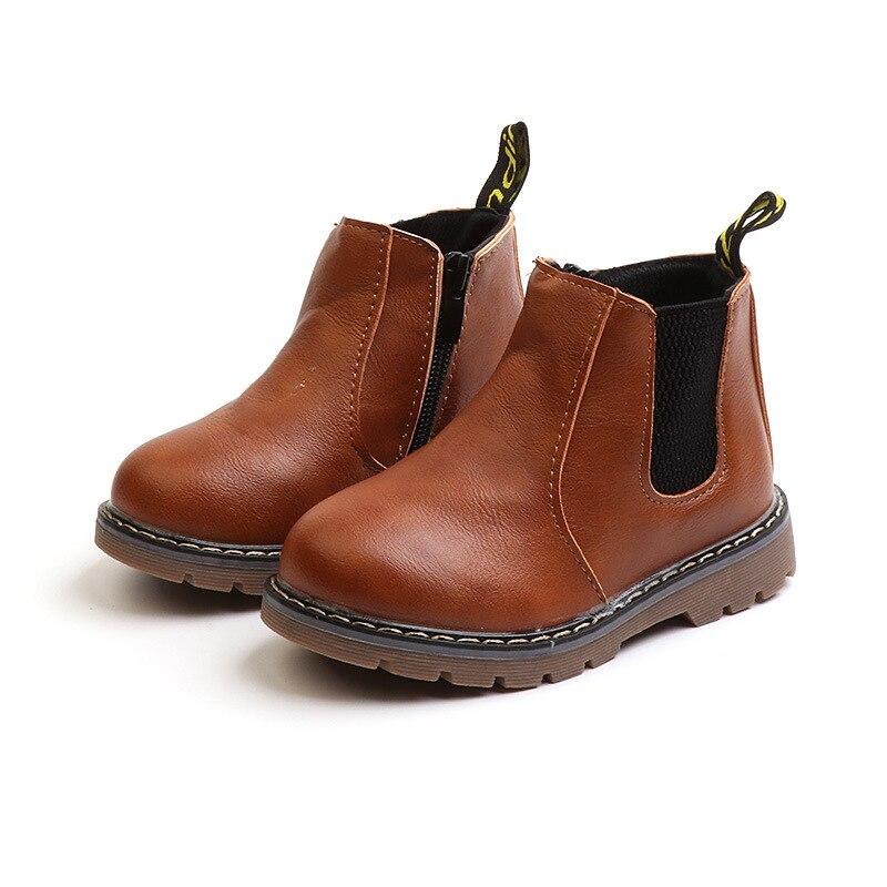 Kinder Martin Stiefel 2018 Herbst Winter Warme Plüsch Stiefeletten Kinder Mädchen Casual Schuhe Top Qualität Jungen Baby Leder stiefel