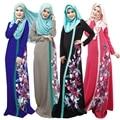 Venta 2016 Nueva Impresión Digital de Envío libre Musulmán Abaya turca Étnica Vestido Multi-código Abaya Ropa Islámica Para Las Mujeres 026 #