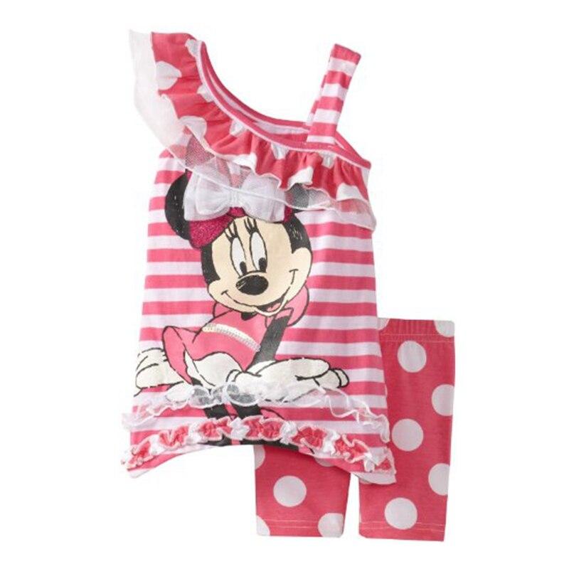 4de80e9d6dc Летний милый комплект одежды с Минни для детей