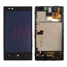 Получить скидку Для Lumia 520 RM-914 ЖК-дисплей Дисплей + Сенсорный экран планшета Ассамблея + Рамки Запчасти для авто