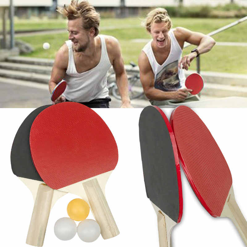 Table Tennis Bat Athletics Ping-Pong Racket Practical Colour Wood Racquet Play Game