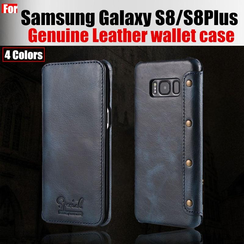 bilder für Fall für samsung galaxy s8 fall ursprüngliche catman marke luxus echtes Leder brieftasche fall flip-cover für samsuang galaxy s8 plus