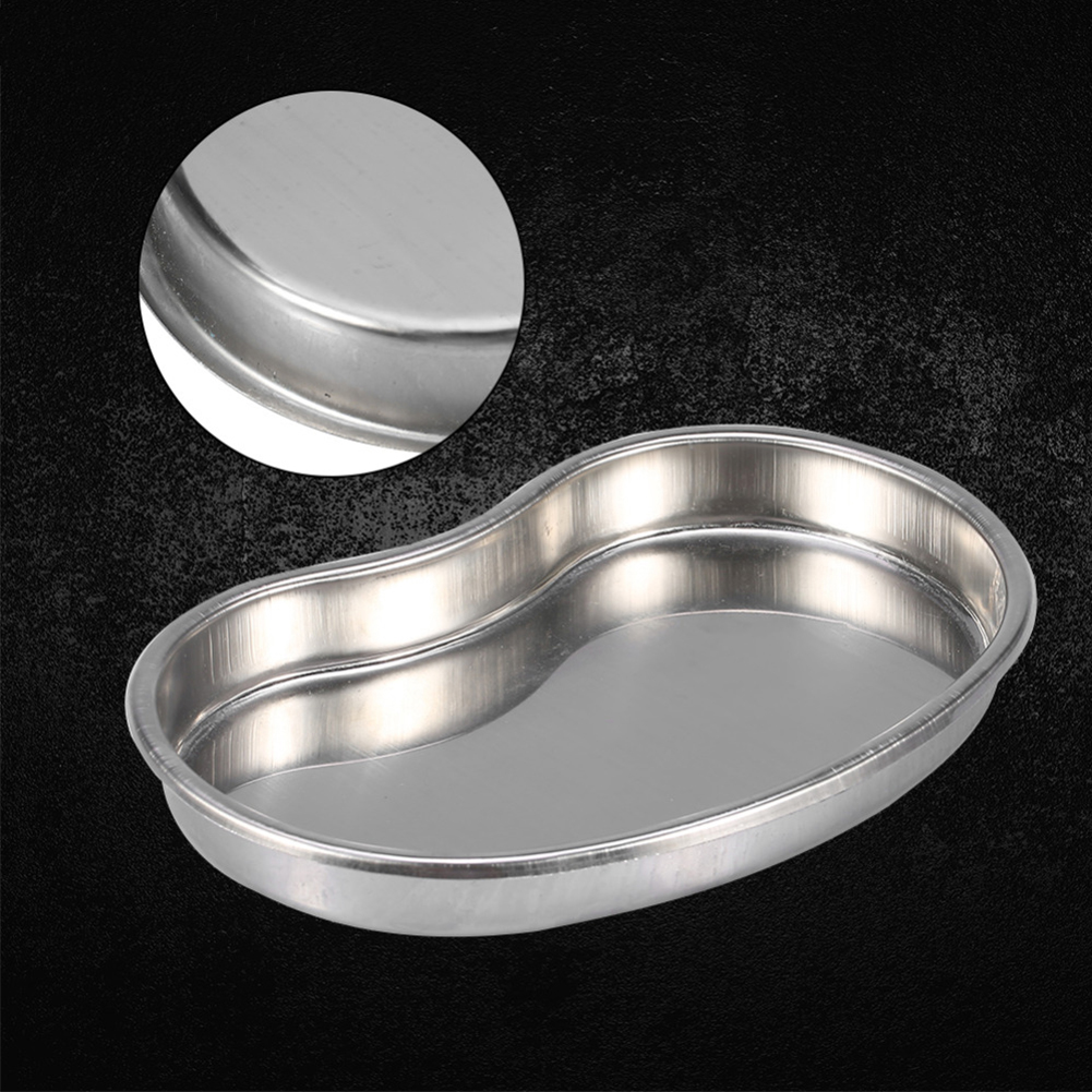 Cosmetic Surgical Disinfection Stainless Steel Pan Bending Plate Accessories Sterilization Tools Tattoo Tray Body Art Container