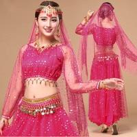 Oriental Dance Costumes BellyDance Costume Female Indian Dance Dress Sexy Women Bollydancer Wear Bollywood Dance Set
