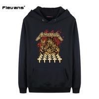 Flevans 2017 Mode Neue Mens Hoodies und Sweatshirts Marke Kleidung Die Heavy Metal Rock Band METALLICA Gedruckt Hoodie