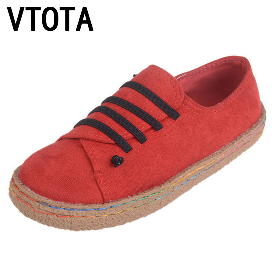 VTOTA Women Flats zapatos mujer plataforma 2017 New Casual Flat Shoes Chaussures Femmes Women Slip-on Loafers Shoes Woman B57 vtota women shoes flats lace hollow summer platform shoes fashion flat shoes women loafers zapatos mujer casual shoes a85