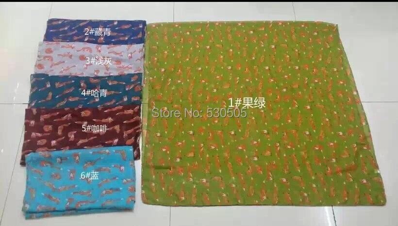Small Fox Print Scarf Animal Print Scarf 2015 New Fashion Design Free Shipping