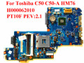 For Toshiba C50 C50-A Laptop Motherboard H000062010 PT10F PEV:2.1 HM76 100% Tested Fast Ship