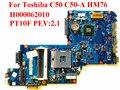Para toshiba c50 c50-a laptop motherboard h000062010 pt10f pev: 2.1 hm76 100% testado navio rápido
