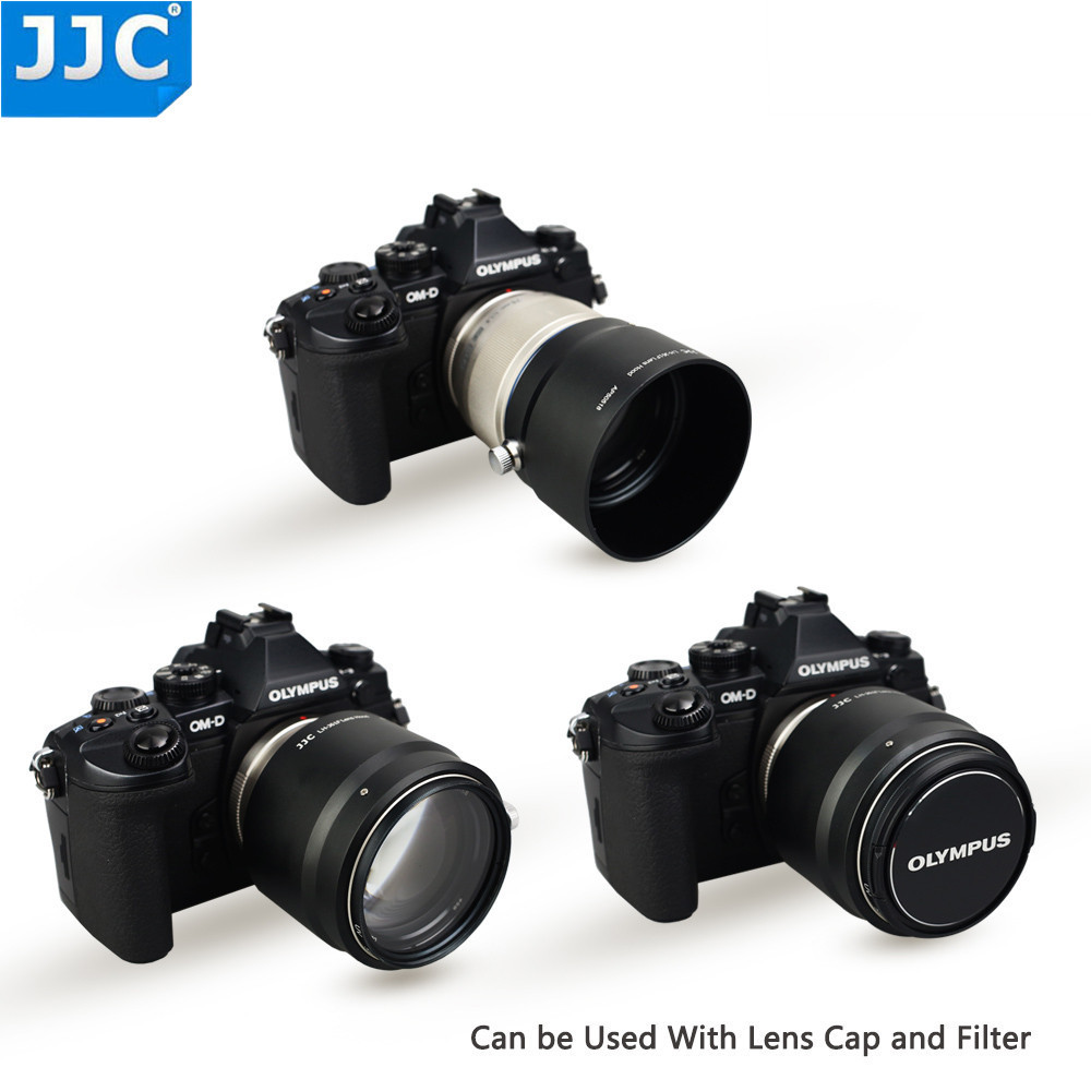 JJC Metal Lens Hood Shade for Olympus M.ZUIKO DIGITAL ED 75mm f/1.8 Replaces Olympus LH-61F Black цены онлайн