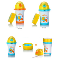 300ml Cartoon Kids Water Cup Animals Pattern Stainless Steel Bottle Children Thermos Travel Bottle Outdoor Tools