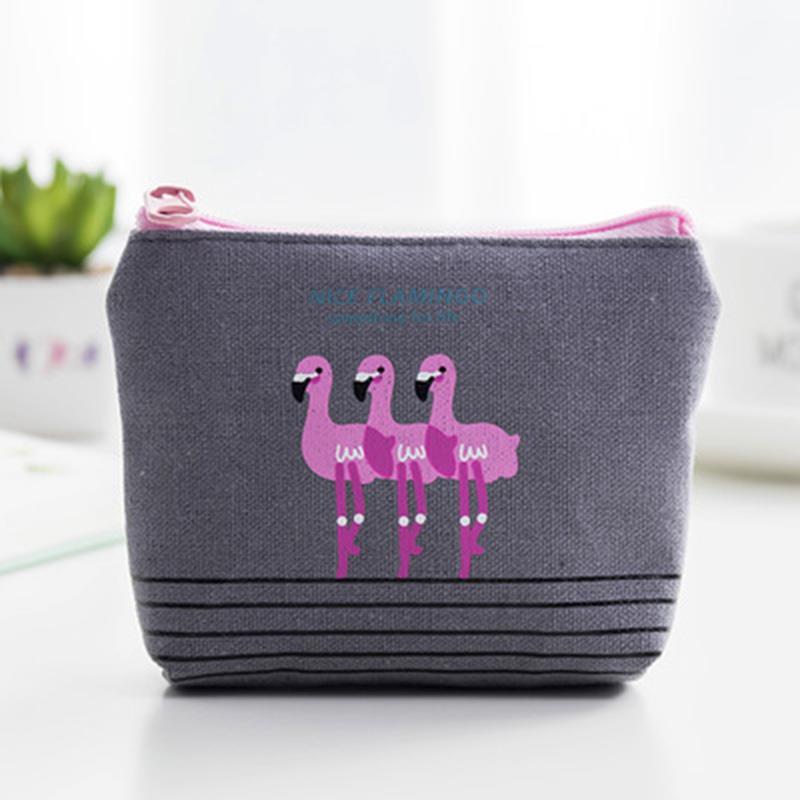 1 Pz Flamingo Semplice Tessuto Della Tela Di Canapa Piccola Borsa Della Moneta Della Borsa Della Moneta Del Fumetto Di Compleanno Decorazioni Festa Per Bambini Buon Compleanno Baby Shower