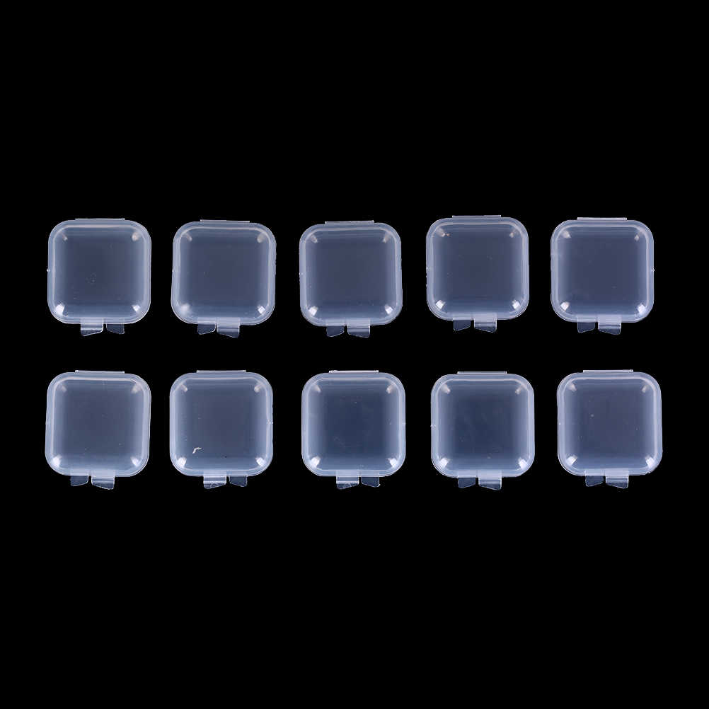 10/20/50Pcs Mini Clear Plastic Small Box Jewelry Earplugs Storage Box Case Container Bead Makeup Clear Organizer Gift