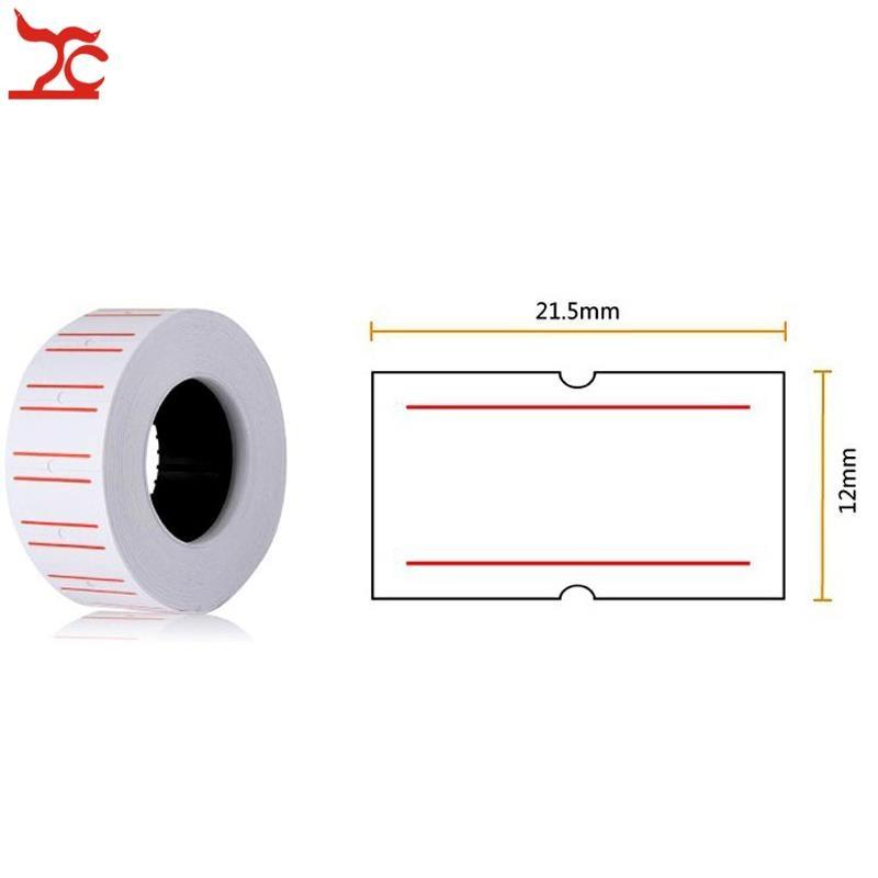 Retail 1 Roll 500PCS White Adhesive Price Tag Paper Price Label Mark Sticker For MX-5500 Price Tag Gun Lableller