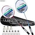 Super licht badminton schläger doppel schläger 2 stück familie liebhaber super stahl schläger Schläger Set battledore Geschenk taschen badminton