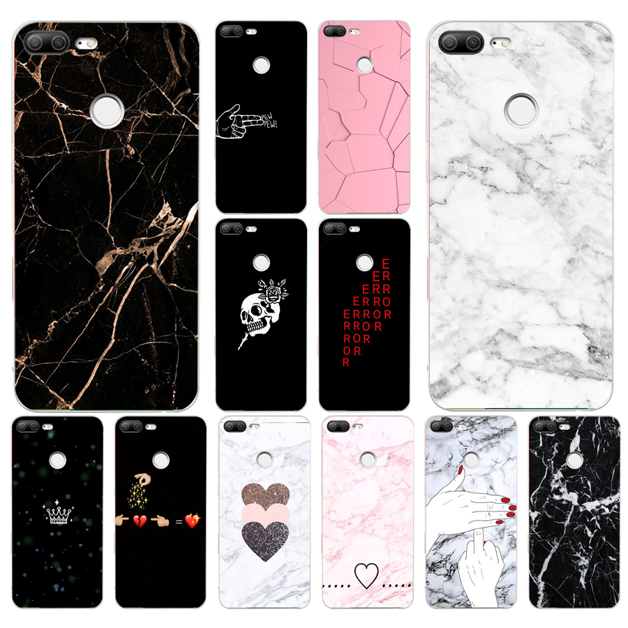 042FG Black White Marble Love Heart gift Soft Silicone Tpu Cover phone Case for huawei Honor 9 10 20 Lite Pro image