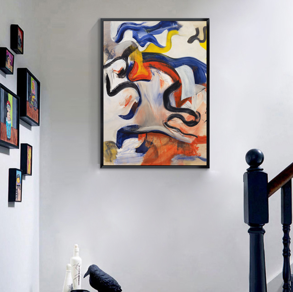 compare prices on big modern wall frames online shoppingbuy low  - big modern wall decor canvas print abstract color paint by willem dekooning untitled home decoration