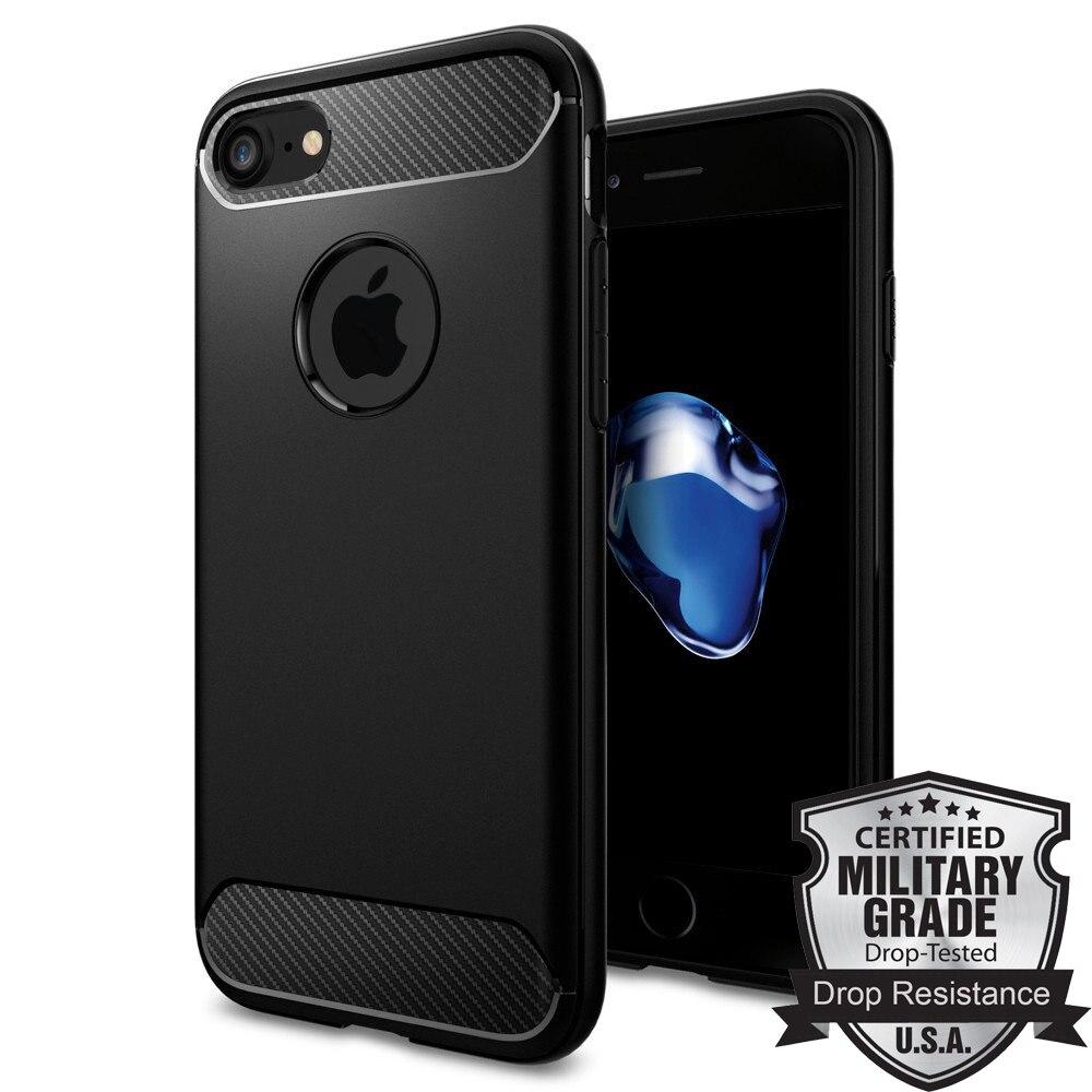 """bilder für Original Unverwüstliche Rüstungs Fall für iPhone 7 Carbon Fiber Texture Militärischen Grad Fallschutz Flexible Fälle für iPhone 7 (4,7 """")"""