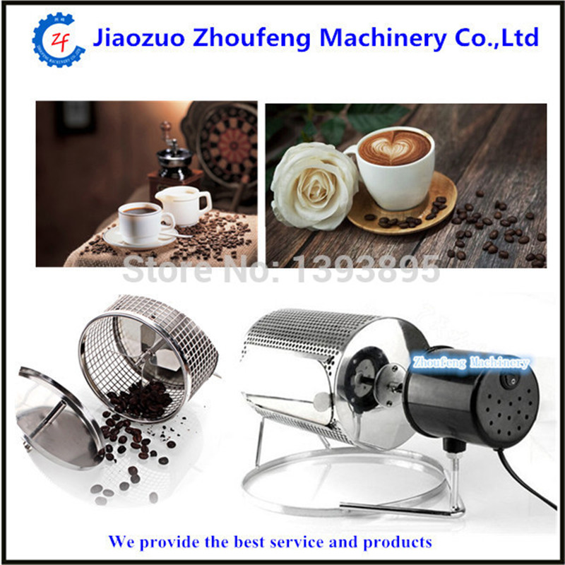 Coffee roaster machine electric stainless steel home use coffee bean roaster baking seeds nuts 110v or220v  ZFCoffee roaster machine electric stainless steel home use coffee bean roaster baking seeds nuts 110v or220v  ZF