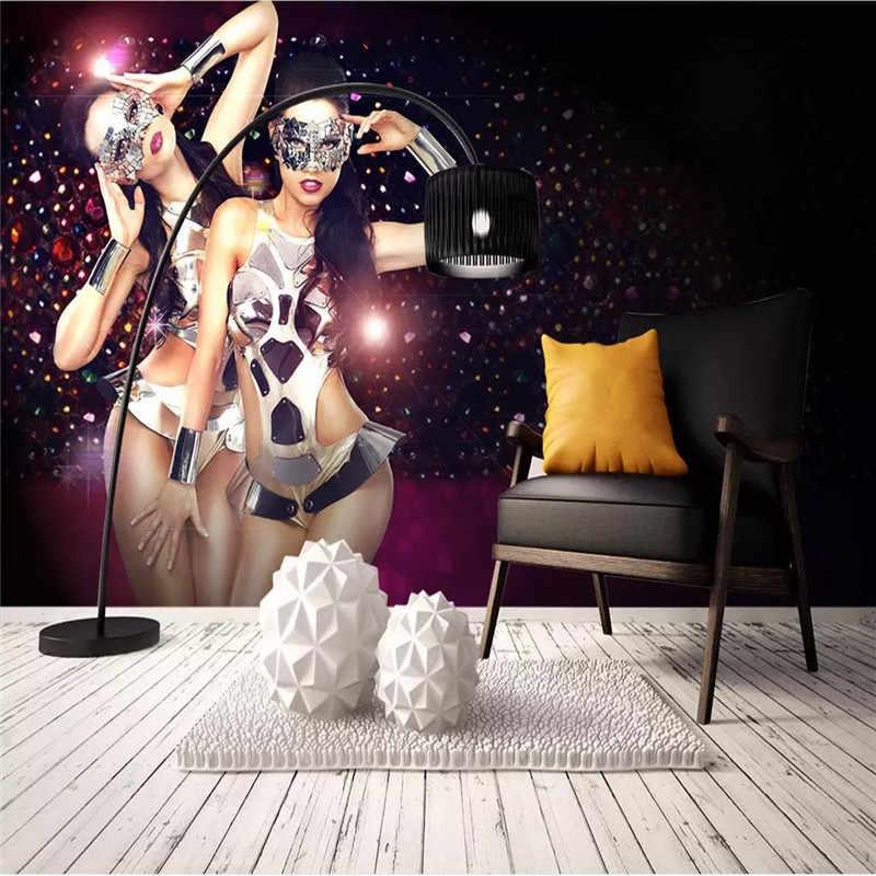カスタム壁紙セクシーな美容ナイトクラブ KTV バーツーリング背景の壁の高-グレード防水材料