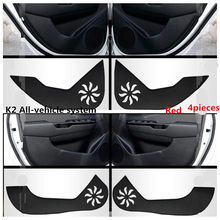 TAIJS car door mat Fashion Style for KIA Soul K2 K3 K4 K5 Cerato Sorento for KIA Kick resistant  pad