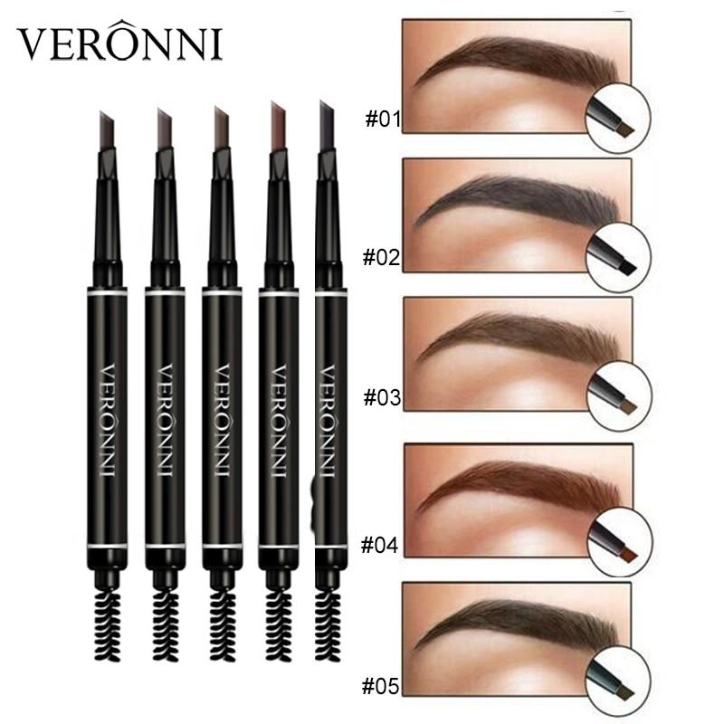 Microblading Eyebrow Tattoo Pen Automatic Eyebrow Pencil Tint Long-lasting VERONNI 5 Color Eye Brown High Quality Makeup