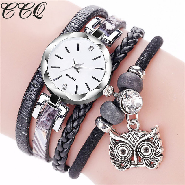 2018 New Arrival Luxury Women Watches CCQ Fashion Women Girls Analog Quartz Owl