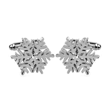 High Quality Cufflinks For Mens Women Christams Snowflake Flower Silver Plated Brand Cuff Buttons Links Best Gift