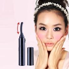 Electric Eyelash Curler Silicone 2 in 1 Eyelash Brush Rotary Heated Eyelashes Fo