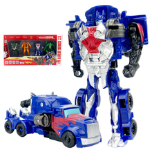 4 PCS set Robot car Transformation Robots Car model Classic boys Toys Action Figure Toys For