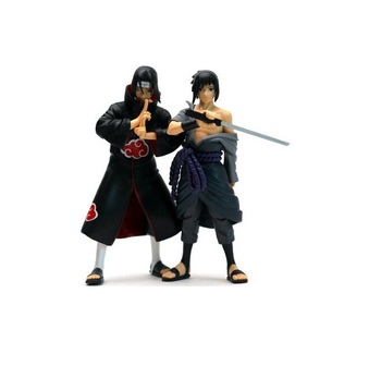 new 2pcs/lot 15cm Naruto Uchiha Sasuke itachi PVC Action Figures Collectible Model Toy T30