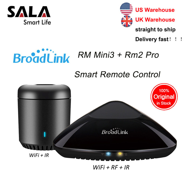 Broadlink Mini3 RMPRO + RM33 Universale Telecomando Intelligente Smart Home, Casa Intelligente Automation WiFi IR RF Interruttore Per IOS Android Phone