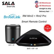 Broadlink mini3 rmpro + rm33 universal inteligente controlador remoto casa inteligente automação wi fi ir rf interruptor para ios android telefone
