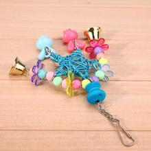 Parrot Birds Toys Plaything Toy Wooden Rope Stand