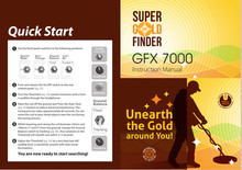 High intelligence GFX7000 underground metal detector finder individual identify gold silver copper iron archaeological