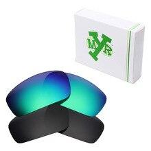 8f8a19f07 2 Pairs Mryok Filhote Monstro POLARIZADA Lentes de Reposição para óculos  Oakley óculos de Sol Stealth Black & Verde Esmeralda