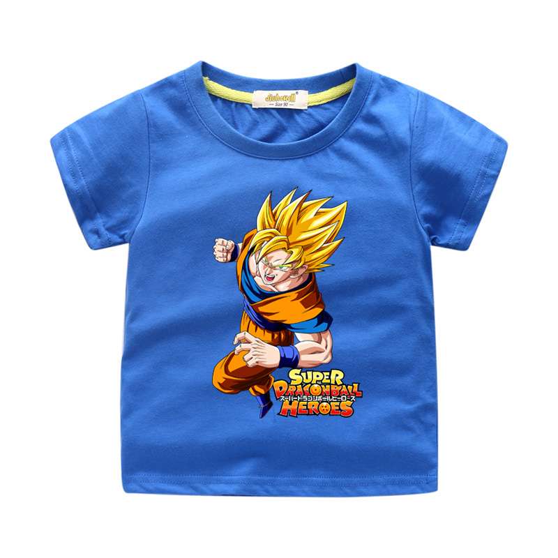 New Cartoon Dragon Ball 3D Print Clothes For Toddler Kids Short Sleeve T-shirts Boy Girls Cotton Summer O-Neck Tee Tops WJ216(China)