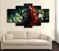 5 painel grande tela HD impresso pintura QUADRINHOS BAT MÁSCARA PRETA cópia da arte moderna home decor wall art imagem for living roomF0361