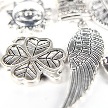 100pcs/lot Mixed Antique Silver Color European Bracelets Charm Pendants Fashion Jewelry Making Findings DIY Charms Handmade