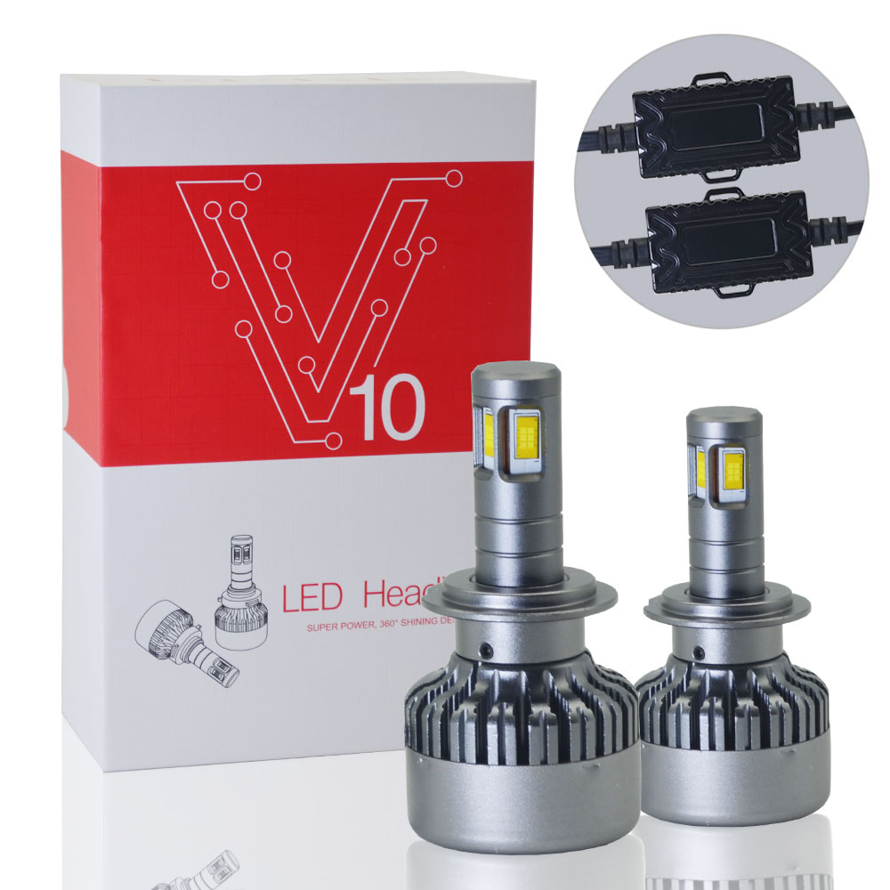 Car <font><b>headlight</b></font> <font><b>bulbs</b></font> H7 <font><b>led</b></font> <font><b>H4</b></font> 4-face CSP chips shining 9005/HB3 9006/HB4 9004/HB1 9007/HB5 9012 H8 H11 6000K 3000K 10000K 12V image