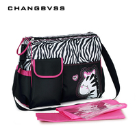 6 Colors Large Capacity Baby Nappy Bags Fashion Mommy Bag Multi Functional Nursing Bag Maternity Single