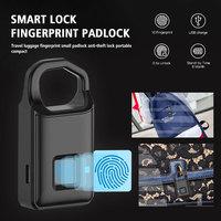 Smart Padlock Fingerprint Capacity 10 Suitcase Anti Theft Rechargeable Alloy Fingerprint ID Smart Padlock Fingerprint 6 Months