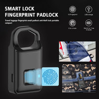 Smart Padlock Fingerprint Capacity 10 Suitcase Anti Theft Rechargeable Alloy Fingerprint ID Smart Padlock Fingerprint 6 Months