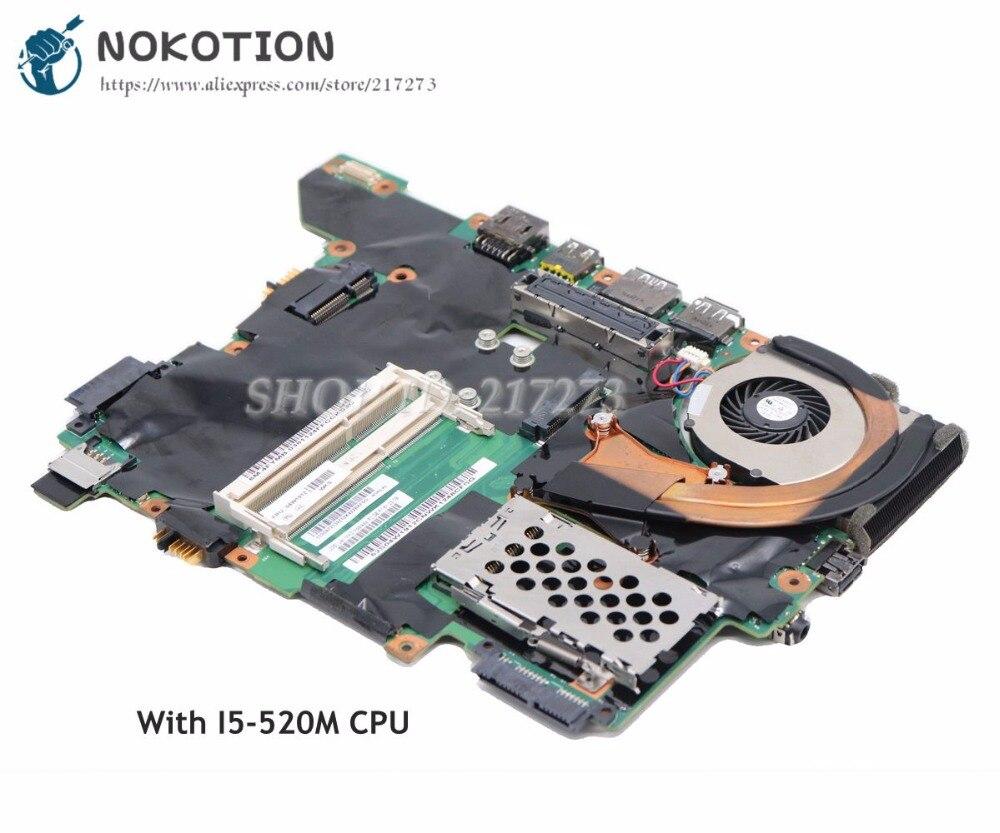 NOKOTION 75Y4122 04W1912 MAIN BOARD For Lenovo ThinkPad T410 T410S Laptop Motherboard I5-520M CPU UMA HD DDR3 nokotion 04w1912 04w0321 main board for lenovo thinkpad t410s laptop motherboard i5 560m cpu qs57 ddr3