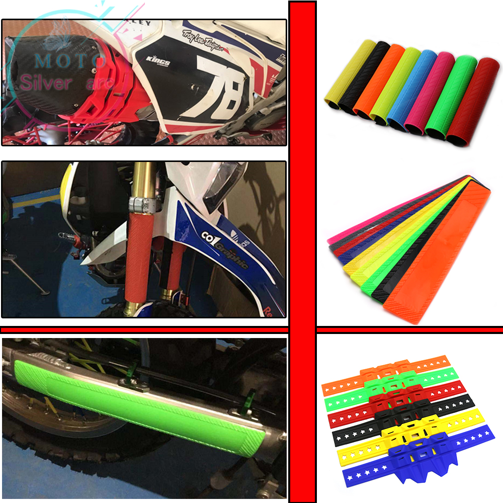 Front Fork Protector Shock Absorber Guard Wrap Cover Skin For Motorcycle Motocross Pit Dirt Bike CR <font><b>XR</b></font> CRF 85/125/150/250/450 image