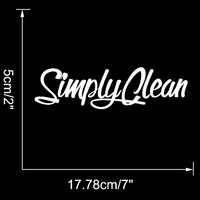 Car Decal Semplicemente Pulito Car Styling Car Window Sticker Smontabile Del Vinile Car Styling Decal Grafica Jdm