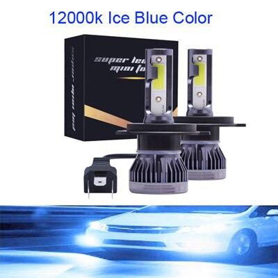 Мини H4 H7 светодиодный фар автомобиля Kit 6000K 3000K 8000K 72W фары для 12000LM H1 H11 9005 HB3 9006 HB4 H8 6000 К лампочки Автомобильные аксессуары - Испускаемый цвет: 12000K