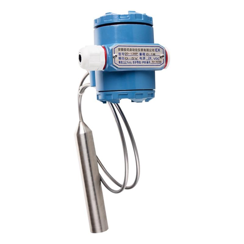 QDY60B capteur de niveau de réservoir de carburant Diesel transmetteur de niveau de réservoir d'huile capteur de niveau d'eau chaude sortie 0-5 V, DC24V - 5