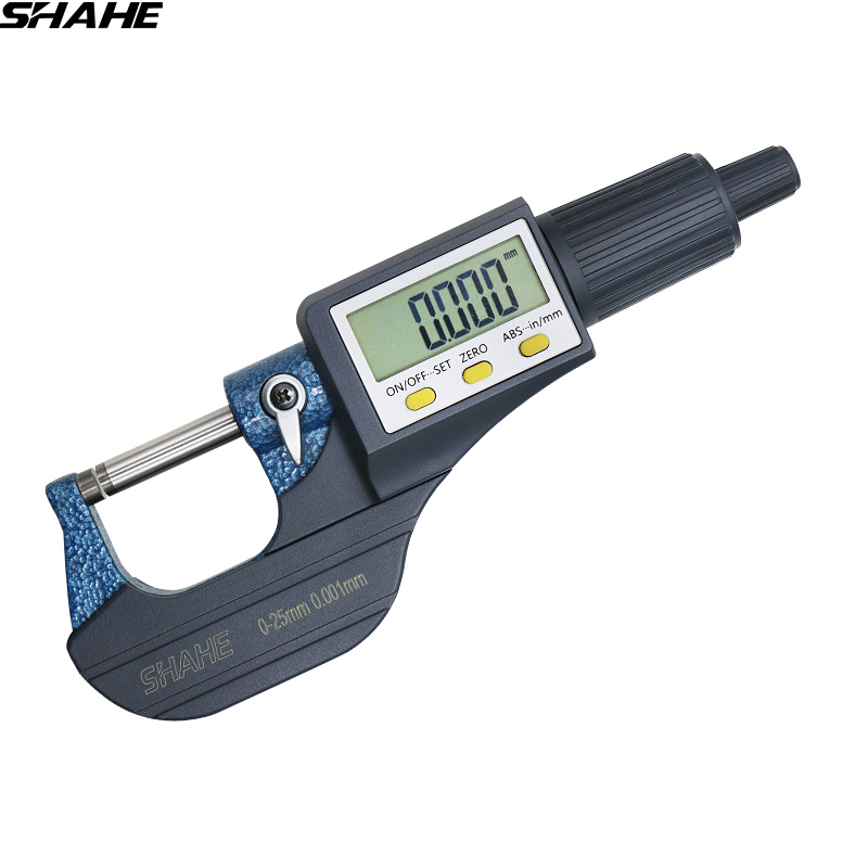 Hell Hohe Qualität Shahe 0-25mm Mikrometer Digitalen Außerhalb Mikrometer Elektronische Mikrometer Gauge 0,001mm Digitale Mess Werkzeuge Sattel Ein BrüLlender Handel
